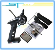 2014 Flysky FS GT2B 2.4G 3CH Gun RC Transmitter & Receiver W/ TX battery + USB Cable Charger for helicopter boat Free Shipping