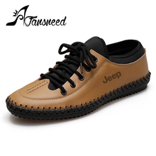 2016 Summer New British style fashion men's casual shoes leather low-top lace solid color 38-44 size
