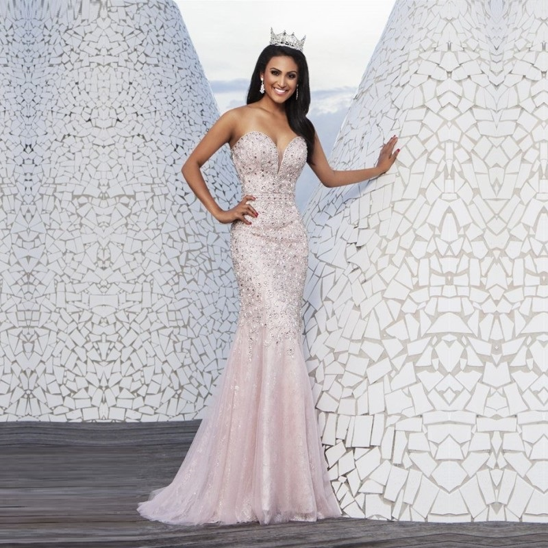 2015 elegant evening dresses all over beads v neck mermaid for Dresses for afternoon wedding