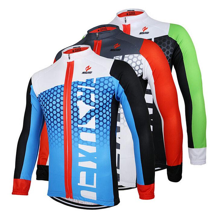 Brand Cycling Jersey Men Long Sleeve Bicycle Mountain Bike Team Wear Shirts Printed 3 Colors Giant Plus SizeArsuxeo(China (Mainland))