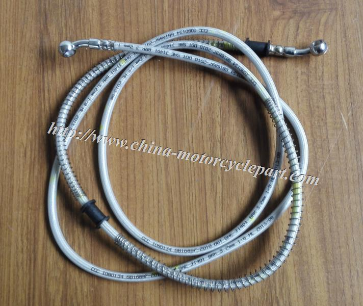 Scooter Moped performance Stainess steel wire braided Hydraulic Rear Brake Hose Brake Line Brake Tubing 2.2m / 87 inch long(China (Mainland))