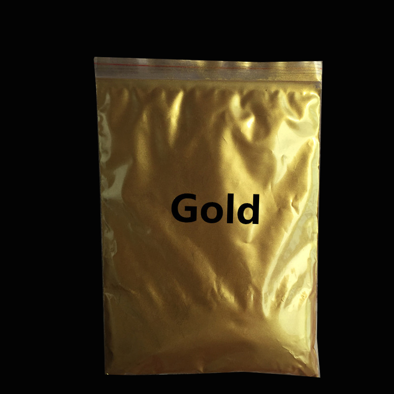 Gold Pigment Pearl powder dye ceramic powder paint coating Automotive Coatings art crafts coloring for leather 50g per pack,(China (Mainland))