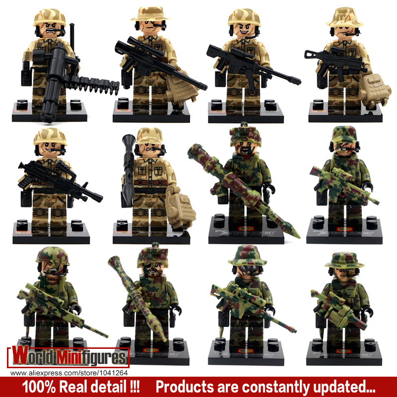 12pcs/lot Shen Yuan SWAT Team Police Officer Tactical Unit Minifigure with Weapon Classic figures Best Children Gift toys(China (Mainland))