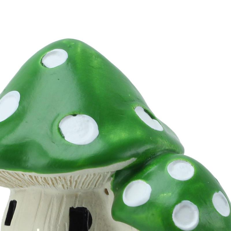 Resin Miniature Double Mushroom House Garden Ornaments Plants Dollhouse Fairy DIY Decoration Supplies(China (Mainland))