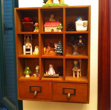 Wooden Storage Cabinet With Drawers For Drinkware Or Cosmetics 42.5*9.5*33CM(China (Mainland))