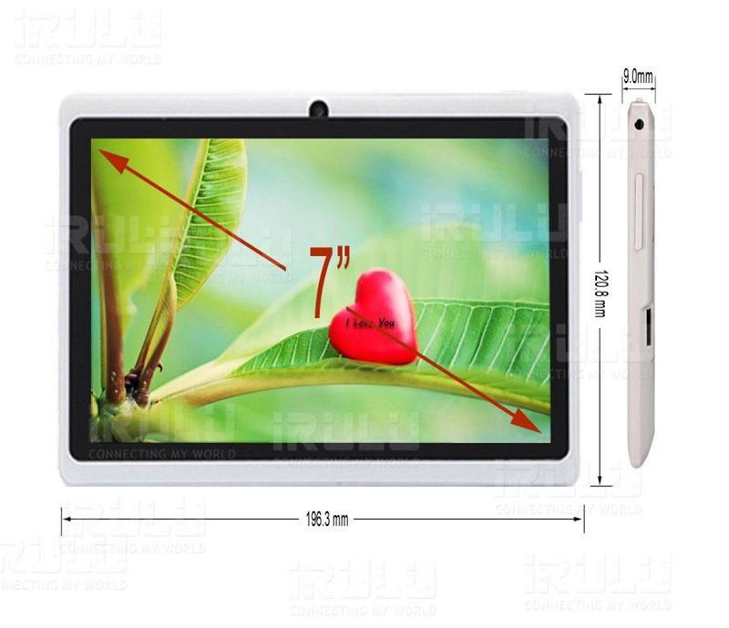 Планшетный ПК Irulu 7 1024 * 600 hd android 4.4 1, 5 8 kamera google App wifi multi/farben hei
