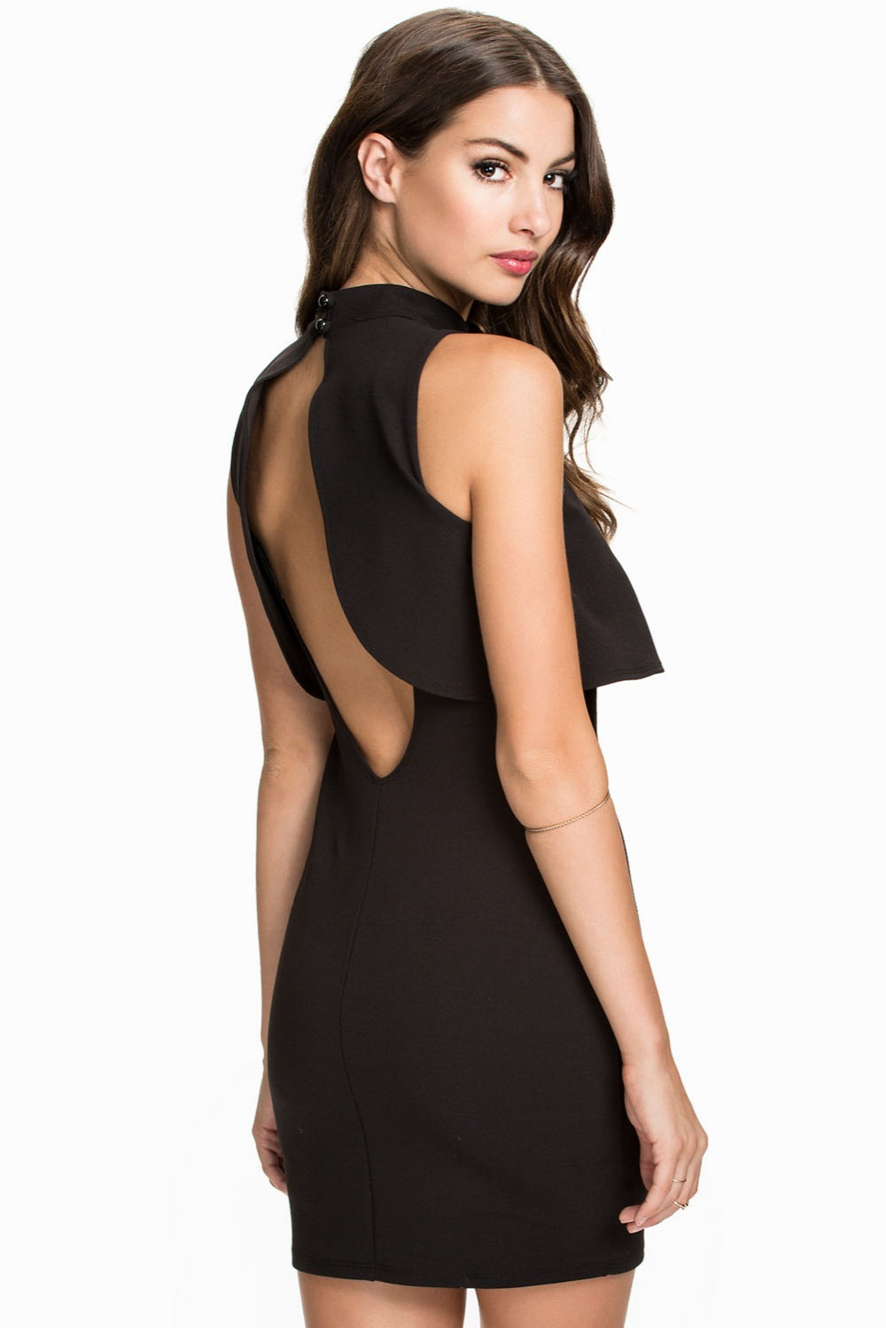 Backless dress party dress sexy dresses top overlay high neck little