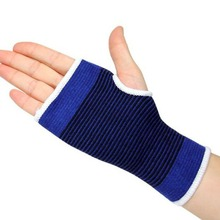 1 Pair Elastic Striped Thumbhole Wrist Palm Hand Support Protecting Brace Sport Outdoor HG-0469(China (Mainland))