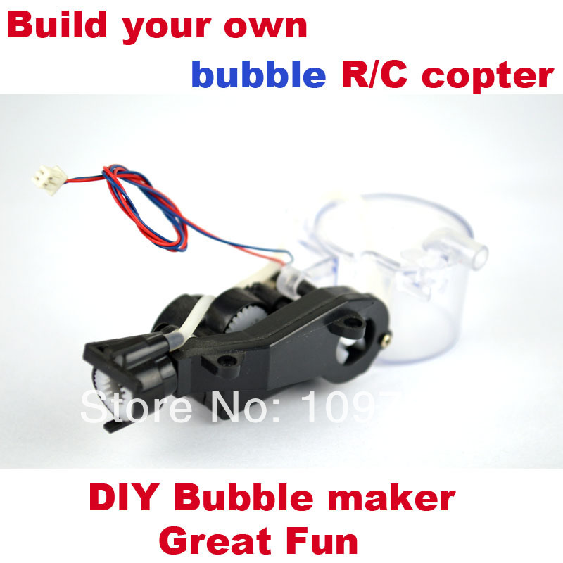 Free shipping DIY rc helicopters Bubble maker Blowing Bubbles for rc air plane rc hobby kits(China (Mainland))