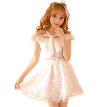Candy rain White Feather dress Feather Dress Short Evening Beaded hollow out bow Dresses 2016 Fashion For Women robe C16AB6065(China (Mainland))