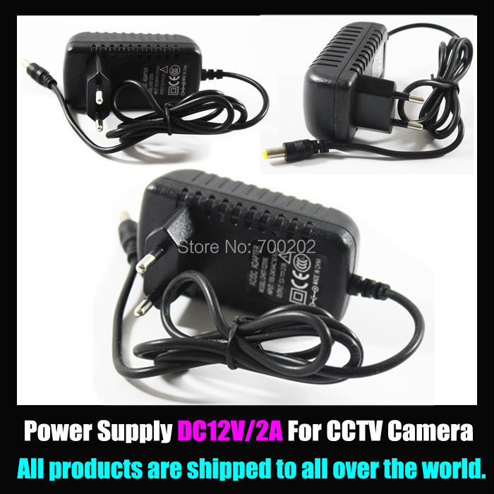 DC 12V 2A Power Supply Adaptor 1A Security professional Converter EU / US Adapter For CCTV Camera CCTV system , free shipping<br><br>Aliexpress