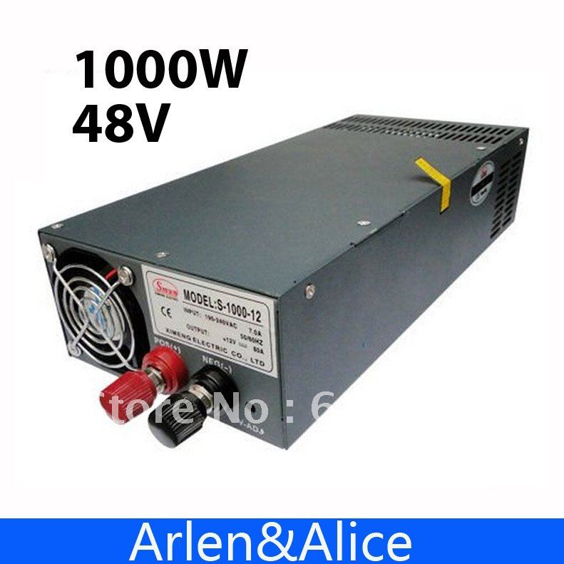 1000W 48V Single Output Switching power supply for LED Strip light AC to DC<br><br>Aliexpress