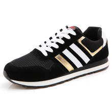 2016 luxury brand summer autumn fashion breathable flat shoes lace mens trainers black men suede designer tenis - LEHAO Flagship Store store