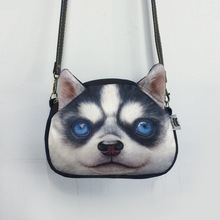 women handbag 3D Animal Printing Shoulder Bag dog face women messenger bag bolsa feminina purse female over the shoulder bag