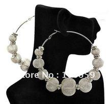50 pairs Basketball Wives earrings hip hop Bling Poparazzi Inspired Hoops Rhinestone Earrings(China (Mainland))