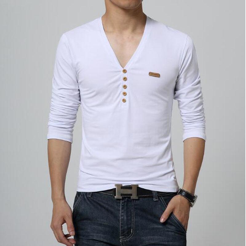 2016 Men's T-shirt Slim V-neck T-shirt men's long-sleeved shirt casual shirt men's shirt printing T-shirt coat size M-5XL # 5402(China (Mainland))