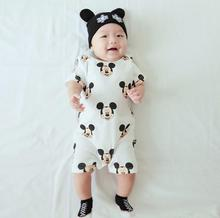 Mickey Minnie Cartoon Baby Romper Short Sleeve Cute Clothes Baby Girl One Pieces Jumpsuits Roupas De Bebe Infantil Baby Clothing(China (Mainland))