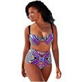 Cfanny 2016 New Women Swimwear Tribal Print Swimsuit Plus Size 4XL Summer Brazilian Bikini with Strappy