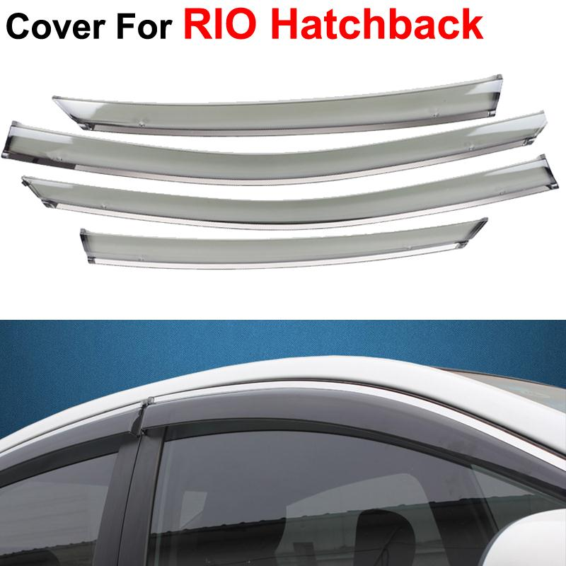 4pcs/lot Window Visors For KIA K2 RIO Hatchback 2012 2013 2014 Sun Rain Shield Stickers Covers Car Stylingg Awnings Shelters<br><br>Aliexpress