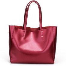 Zency Роскошная золотая женская сумка на плечо 100% натуральная кожа Большая вместительная сумка элегантная женская сумка через плечо модная(China)
