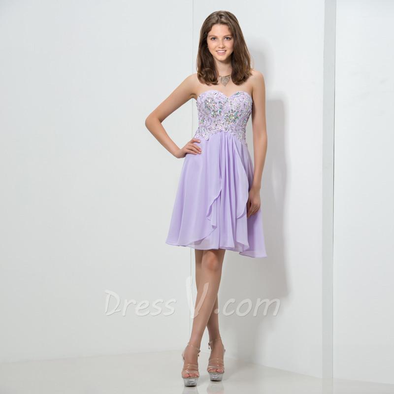 Lilac Cocktail Dress