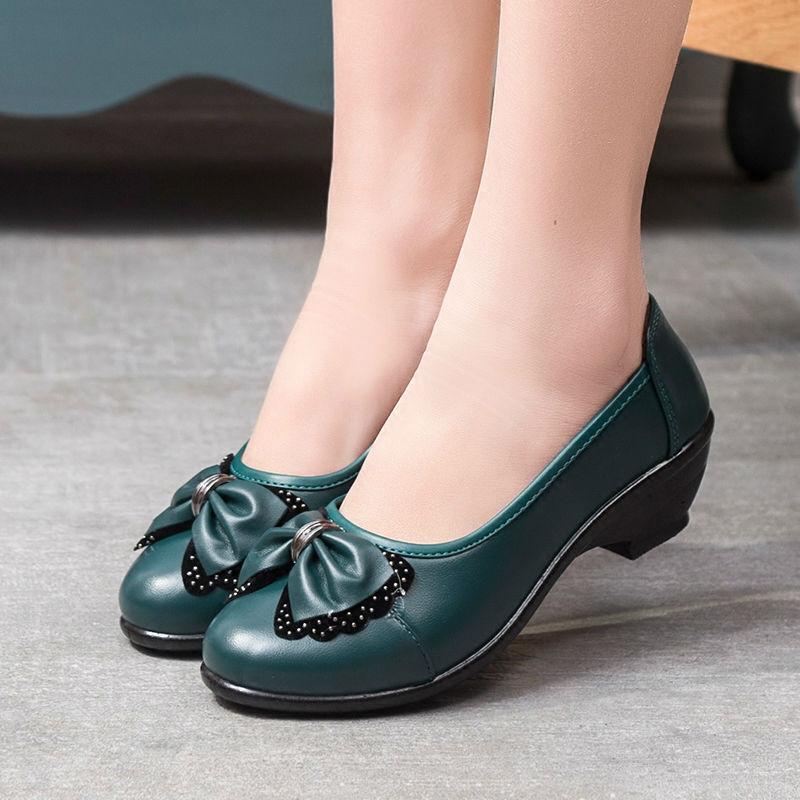 2016 primavera e no outono nova de meia idade mãe Peas sapatos da moda fundo macio não-deslizamento sapatos sapatas das mulheres idosos avó sapatos(China (Mainland))