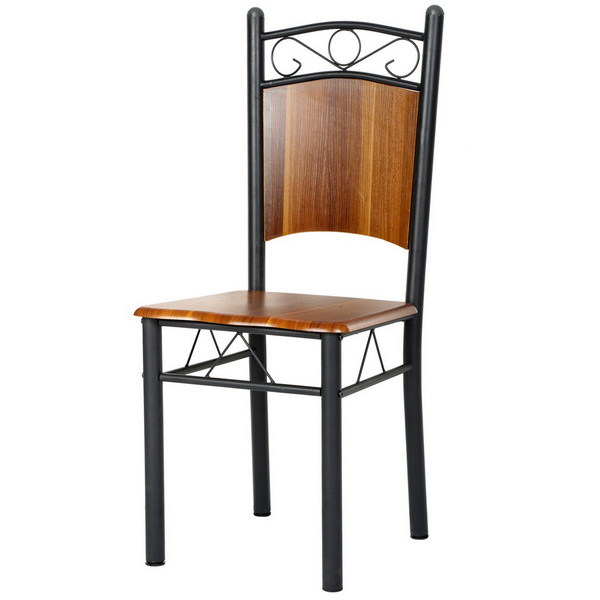 Ancheer 4 pcs/set Modern Popular Dining Chair Charcoal Iron Finish Cafe Chair Seat Bistro(China (Mainland))