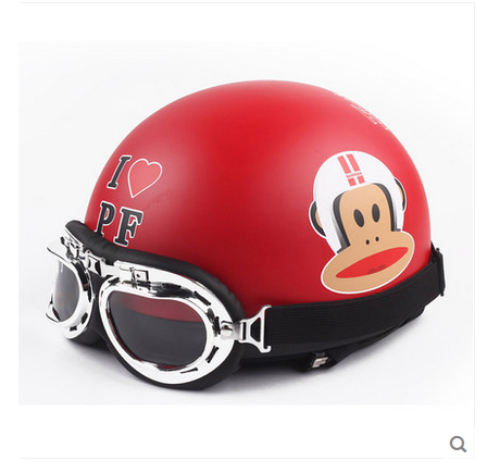Free Shipping LSG-D ABS Half Face Cycling Helm Bicycle Motorcycle Matt Red # Monkey Helmet & UV Glasses Adults Size M L XL(China (Mainland))