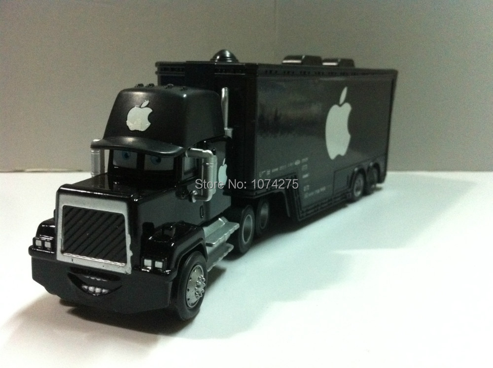 "Pixar Cars Mack Uncle Truck ""Black Apple"" Metal Diecast Toy Car 1:55 Loose Brand New In Stock & Free Shipping(China (Mainland))"