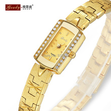 2014 New fashion lady Gold plated watch water resistant vintage wristwatches Rhinestone watches