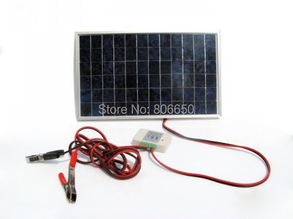 New USA Stock 10w 18V Solar Panel Off-Grid Solar System Complete Kit For DC 12v Appliance(China (Mainland))