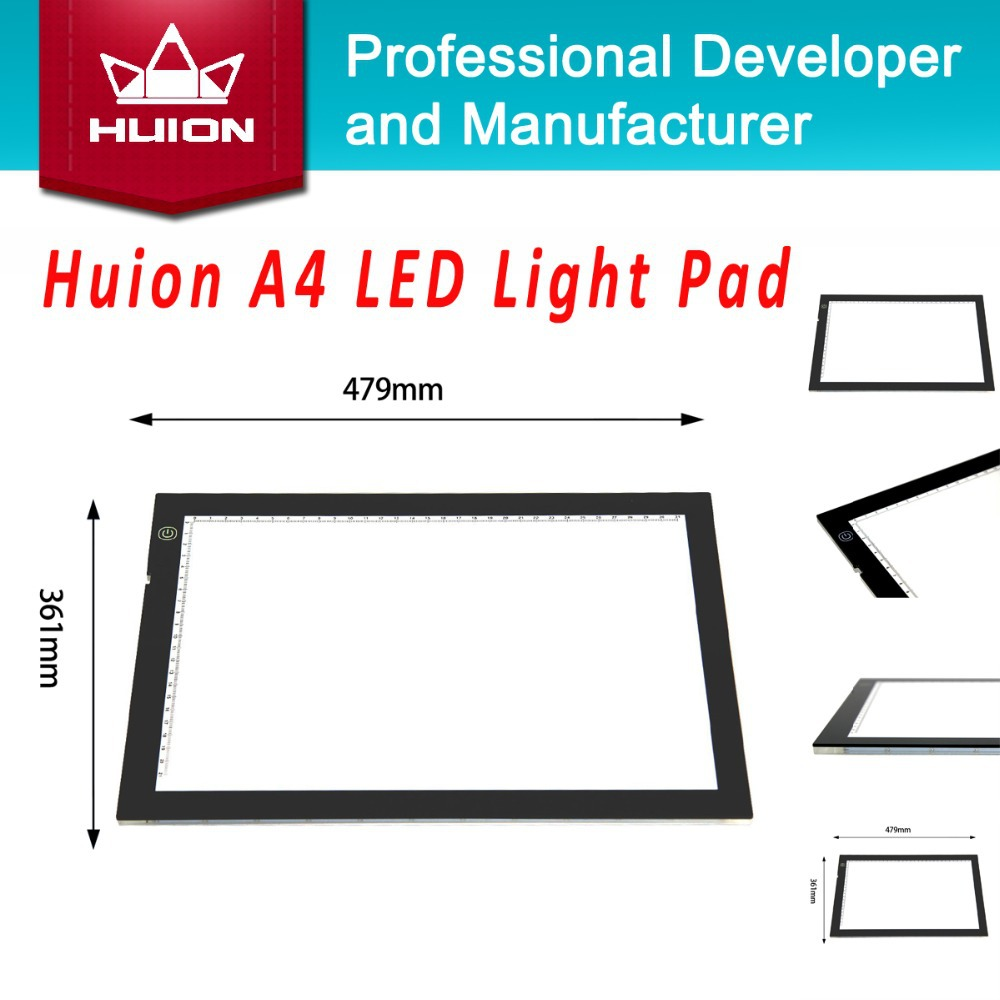 New Huion A4 LED Tracing Panel Ultra Thin Touch Variable Illumination Light Boxes Professional Animation Light Pad Copy Boards(China (Mainland))