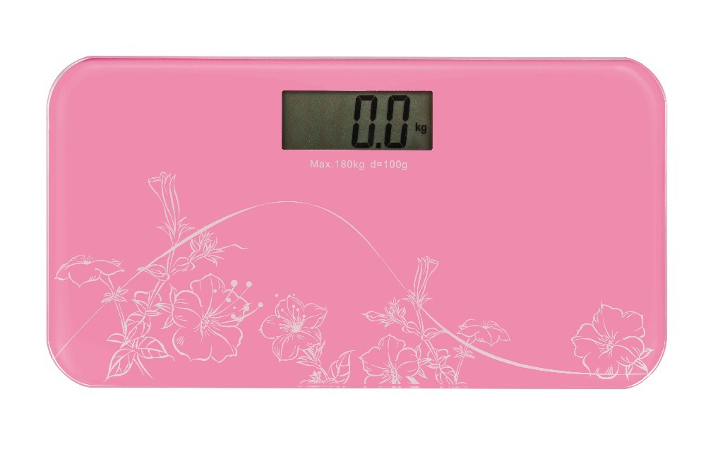 Digital LCD Glass Bathroom Personal Scale Weight Watchers High Precision 400lb/180kg(China (Mainland))