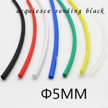 (1Meter/lot) 5MM Inner Diameter Black Heat Shrinkable Tube / Heat Shrink Tubing