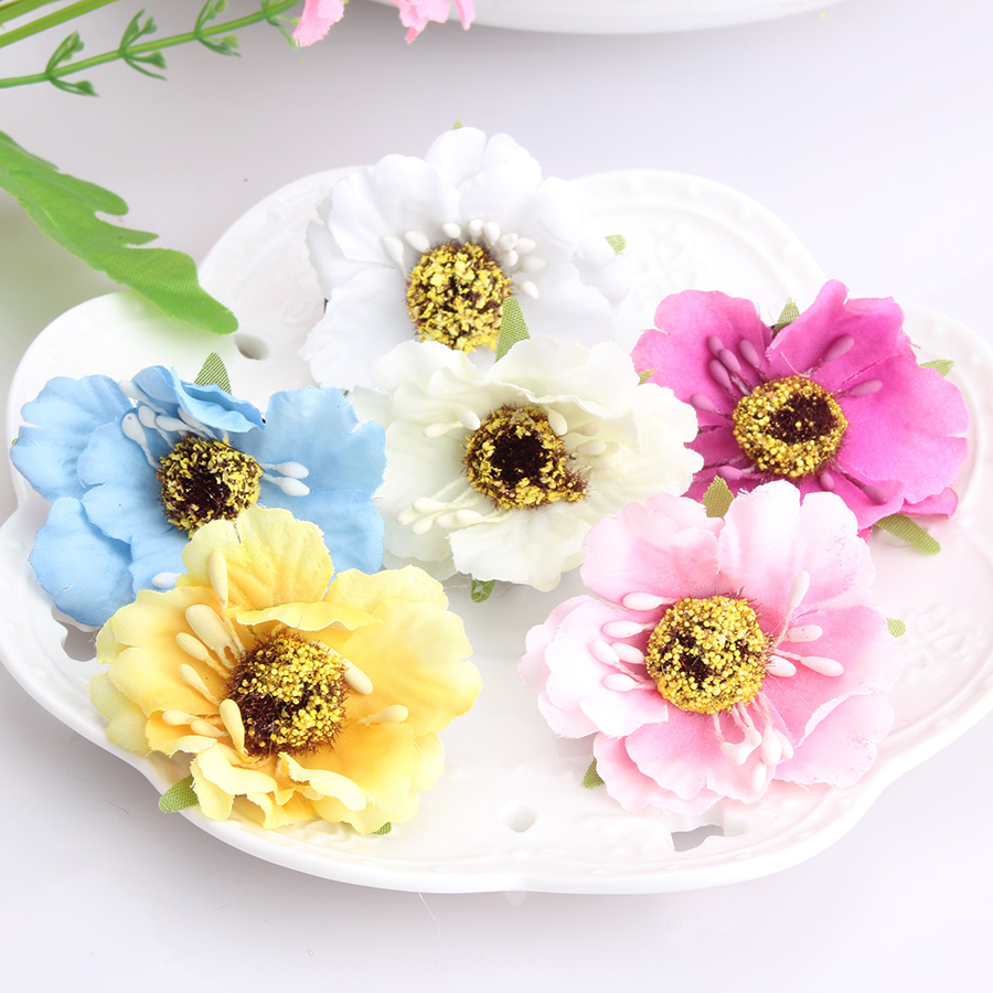 Wholesale Beauty Wedding Bridal Hairpins Sunflower Hair Clip Women Accessory Fabric Floral Girls Hair Ornaments Baby Barrettes(China (Mainland))