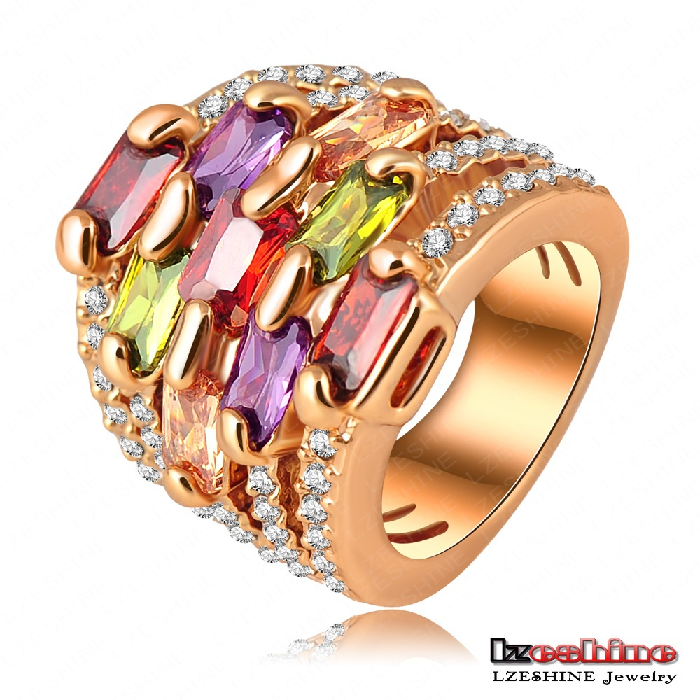 Weekend Deal Zircon Ring 18K Gold Plt Gorgeous Multi-layer Engagement Ring Pave Austrian Crystal Charm Jewelry anillos Ri-HQ0215(China (Mainland))