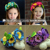 Free shipping fashion flower headband hairbands Artificial garland Flowers wreath For Baby Girl Children Hair Accessories XN-296