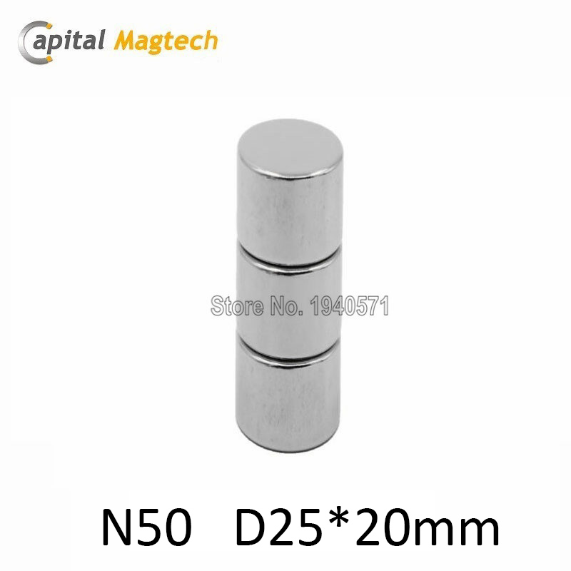 1pcs High Quality Neodymium Disc Super Strong Magnets D25*20mm N50 with free shipping<br><br>Aliexpress