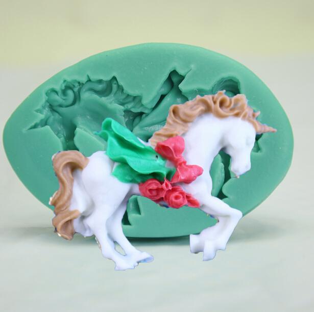 Cake Mold 1/ 5 pc unicorn horse set modelling Mold mould ...