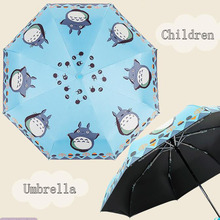 Buy Cartoon Rain Umbrella Black Coating Children Umbrellas Kids Neighbor Totoro Gift Present 55 8K for $10.73 in AliExpress store