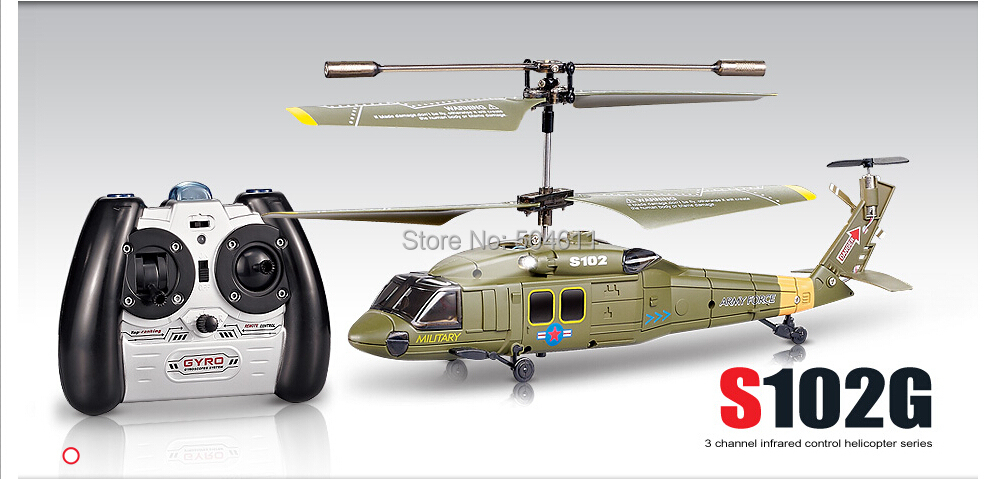Free Shipping Syma S102G 3-Channel RC Helicopter Black Hawk UH-60 RTF mini RC Helicopter(China (Mainland))
