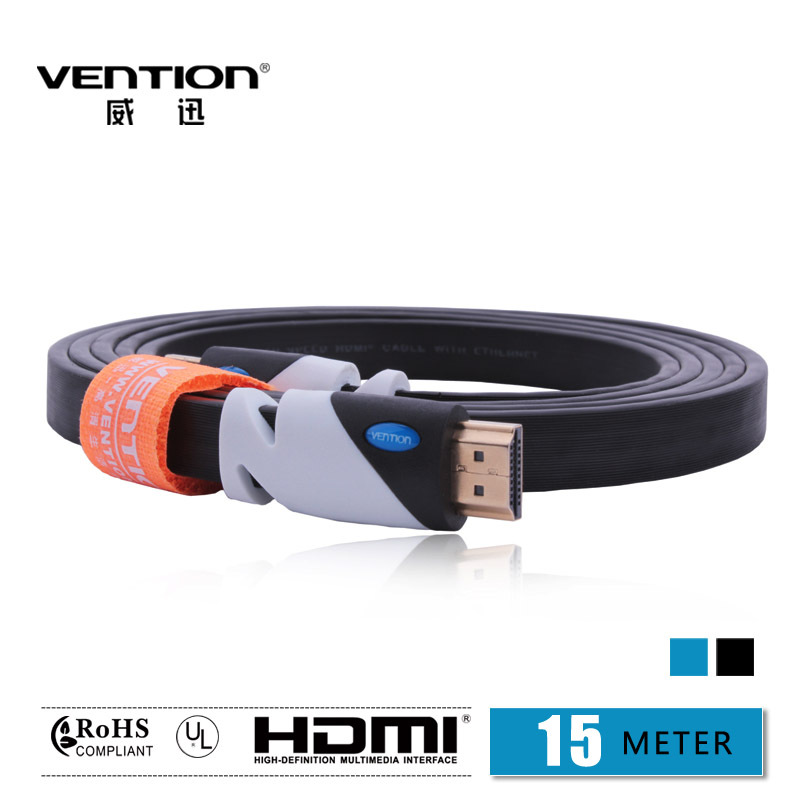15M Black Color HDMI Cable digital audio & video cables Gold Plated HDMI Connection V1.4 HD 1080P TV Cable Computer cables(China (Mainland))