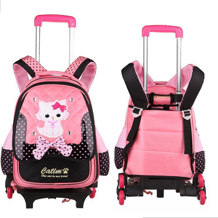-Kitty-Girls-Trolley-Bags-School-Backpacks-Single-Wheels-Three-Wheels ...