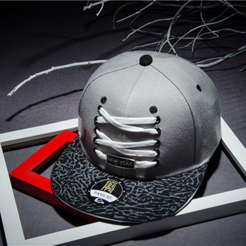 2016 Shoelace Cotton Casual Baseball Cap Snapback Men Hat Pokemon Hats Hip Hop Basketball Cap 2 Colors(China (Mainland))