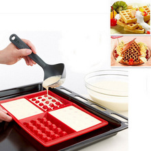Waffle Makers for Kids Silicone Cake Mould Waffle Mould Silicone Bakeware Set Nonstick Baking Mold Kitchen Accessories Supplies