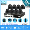 NVR CCTV 8CH D1 DVR recorder home security camera kit CMOS 600TVL Night Vision indoor dome