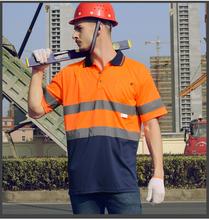 Free shipping 30pcs/lot customized logo reflective T shirt; safety security shirt; high visibility shirt; print your logo RC32 ()