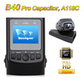 Free Shipping Upgraded B40 PRO Capacitor A118C Novatek 96650 H 264 HD 1080P Car Dash Camera