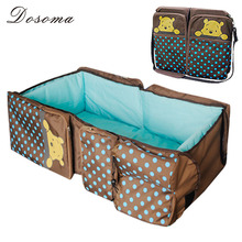 2015 Portable baby bed Folding travelling Bed Novelty High Quality Baby Folding Bed Baby Cradles Crib Infant Safety Mum Bag(China (Mainland))