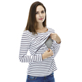 Fashion Maternity Clothes Maternity Tops tshirt Breastfeeding shirt Nursing Tops Srtiped pregnancy clothes for pregnant women